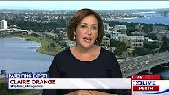 Claire Orange on Channel 9 News in Perth