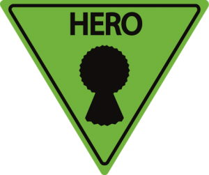 Highway Hero badge sign