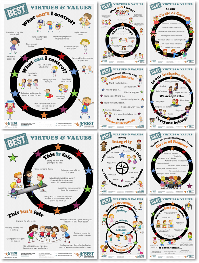 BEST Programs 4 Kids Virtues & Values classroom posters