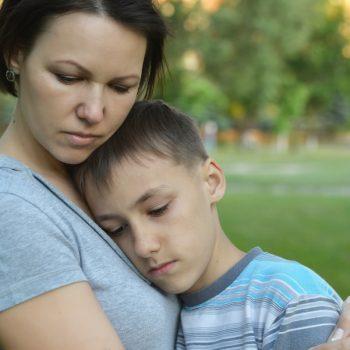 Mum Comforting Child